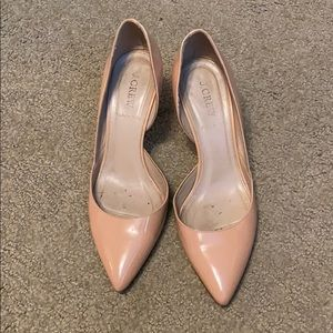 JCrew peach patent leather kitten heel